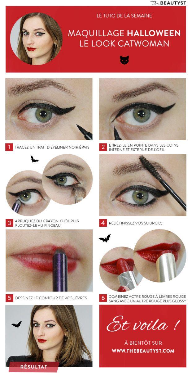 Favorit Les 25 meilleures idées de la catégorie Maquillage catwoman sur  LK45