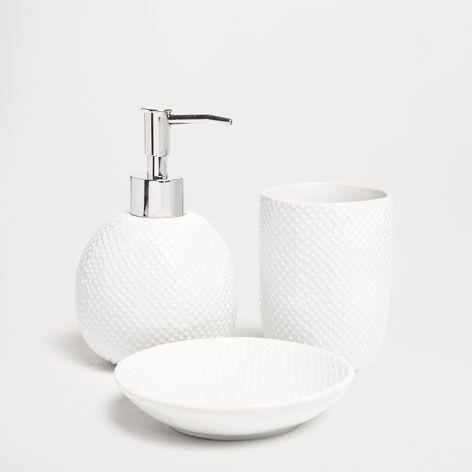 Glanzende Badkamerset met Stippen - Accessoires - Bad | Zara Home Netherlands