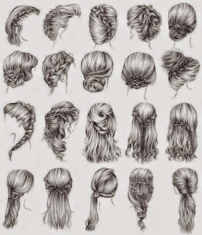 Frisuren Zeichnungen                                                       …