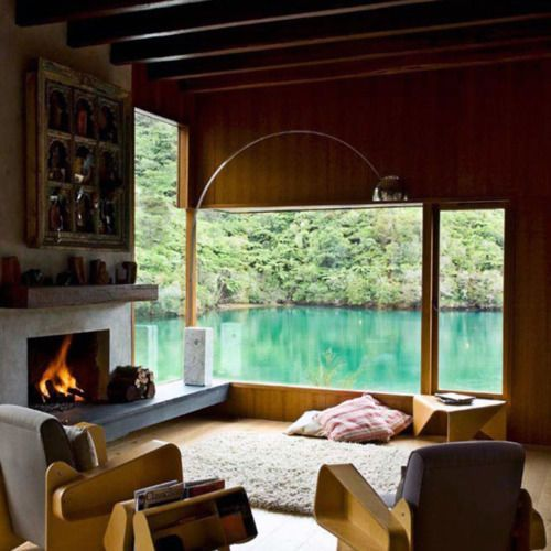 Cabin?Lakes House, Bays, Interiors, Livingroom, The View, Dreams House, Living Room, Windows, New Zealand