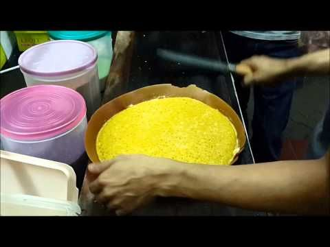 Easy Homemade Thick Indonesian Pancake ~ Martabak Manis - YouTube