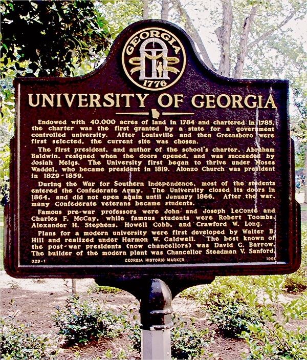 University of Georgia - History of UGA (Even though I don't like UGA, it is in our state standards, so.....)