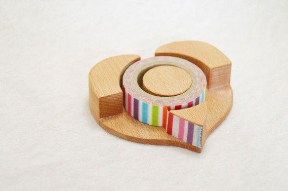 ハートのテープカッター(マスキングテープサイズ)