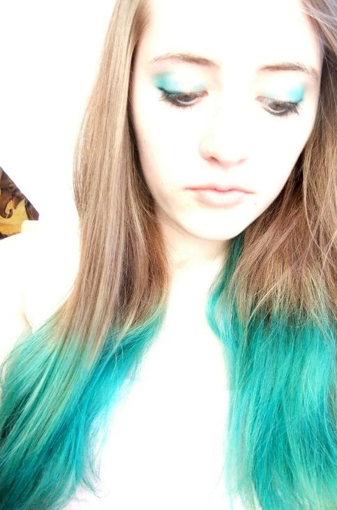 Brown Hair With Turquoise Underneath Www Imgkid Com