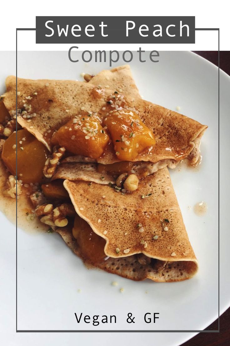 A sweet and cinnamon flavoured topping made with fresh peaches for crepes, ice cream, or anything else! A great way to use unripe peaches, too.