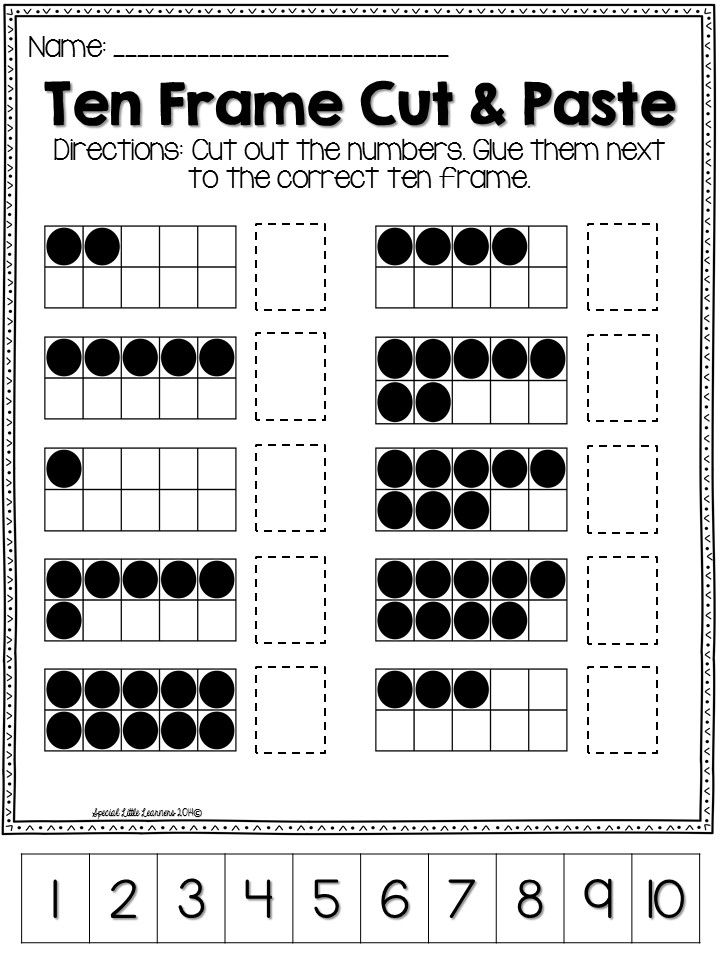 Ten Frame Practice: Worksheets and Games | Pre K lesson planning ...