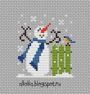 Mi tvorilki *** Aliolka diseño divertido snegovichki!