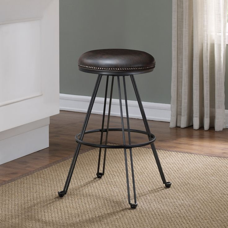 tolland swivel backless counter stool by greyson living grey metal