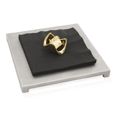 Peetal New York Lotus Flower Flat Napkin Holder
