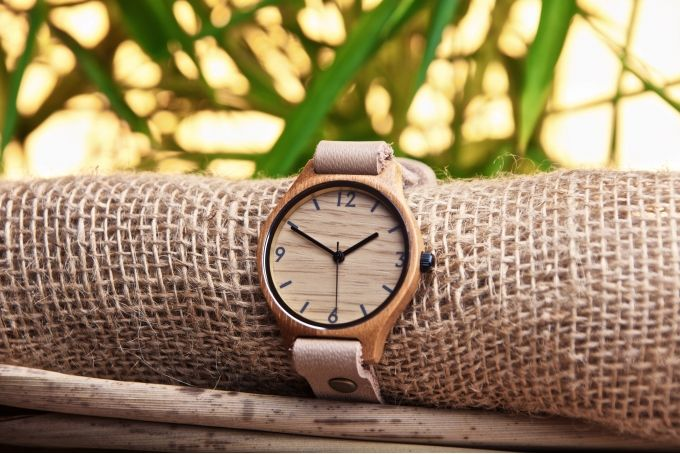 Original Natural Watch- Beige Single by Bamboo Revolution