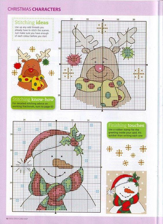 Схема новогодней вышивки для открытки с днем рождения