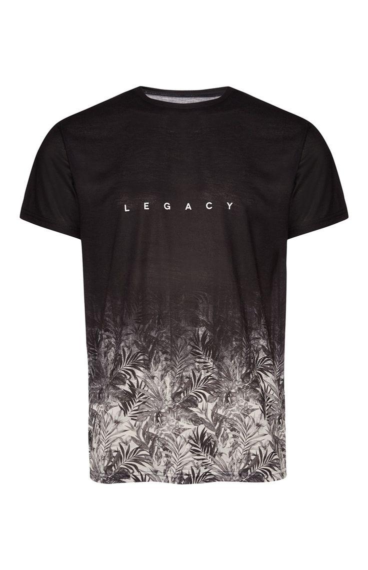 Black legacy print t shirt