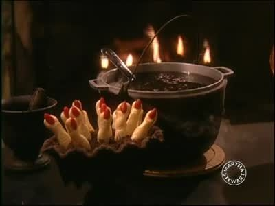 Watch Martha Stewart's Spooky Halloween Finger Cookies Video. Get more step-by-step instructions and how to's from Martha Stewart.