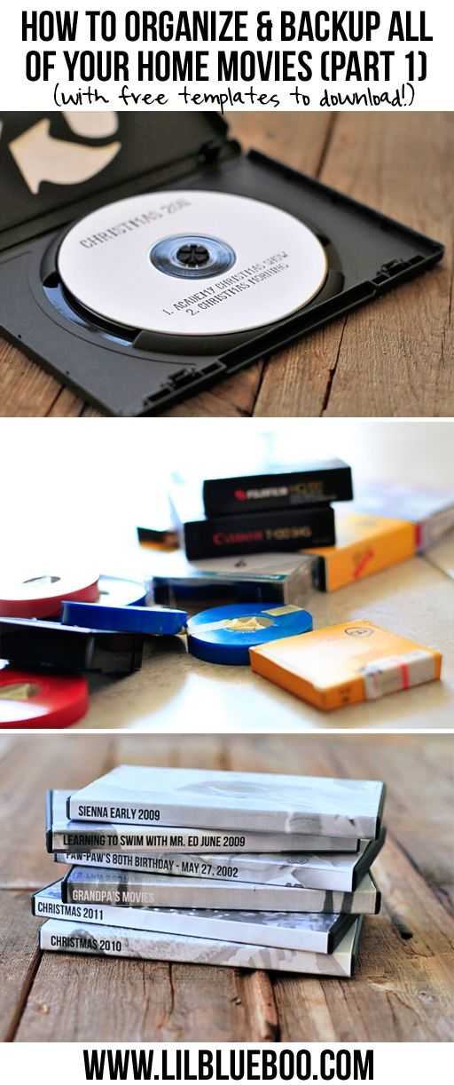 Tips for how to organize, burn, and backup home movies via lilblueboo.com