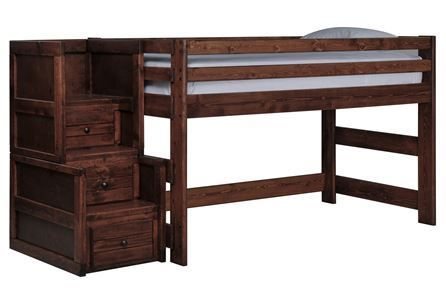 Sedona Junior Loft Bed W/Junior Stair Chest - Signature