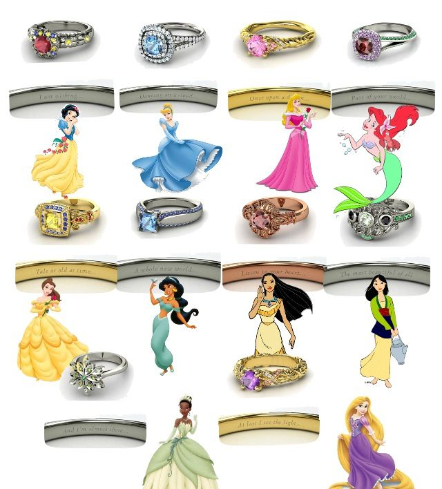 princess rings purity rings for girls all the disney princess wedding - Disney Wedding Rings