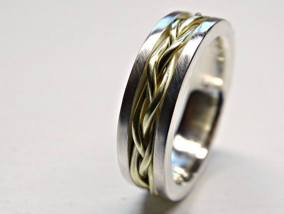Celtic Wedding Band Men Gold Braided Wedding Ring Viking Etsy Mens Gold Wedding Band Celtic Wedding Bands Promise Rings For Guys