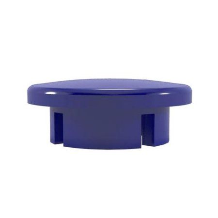 PVC Pipeworks 1 inch Dome PVC Furniture Grade Cap in Blue - Internal Fit (4-Pack)