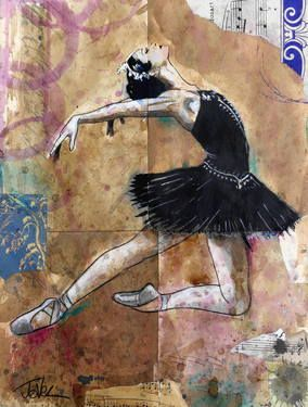 "Saatchi Art Artist Loui Jover; Drawing, ""black swan study ....SOLD"" #art"