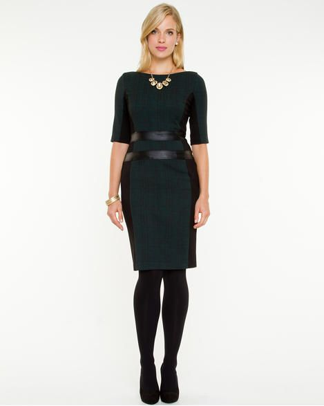 Jacquard Scoop Neck Dress