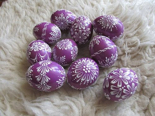 Velikonoční kraslice: fialová