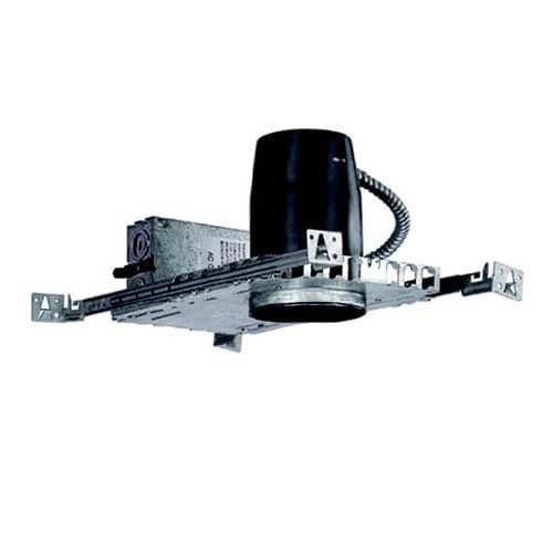 WAC Lighting HR-302E 3 Trim Recessed Light Housing for New Construction - Non-IC Rated, Nickel