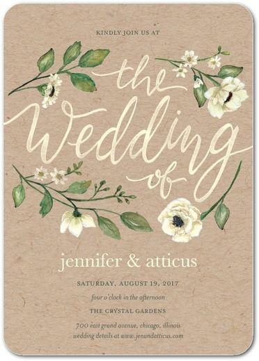 Delightful Blooms - Signature White Wedding Invitations - Lady Jae - Bubblegum - Pink : Front