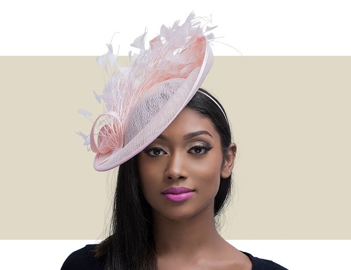 9f0745db9c59f Hot Pink Feather Fascinator Headpiece with Headband