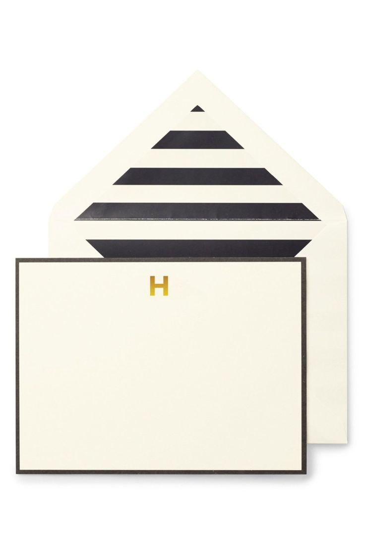Personalize your thank yous with these gorgeous monogram correspondence cards.