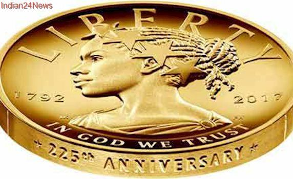 In a first, new US $100 gold coin to depict Lady Liberty as black