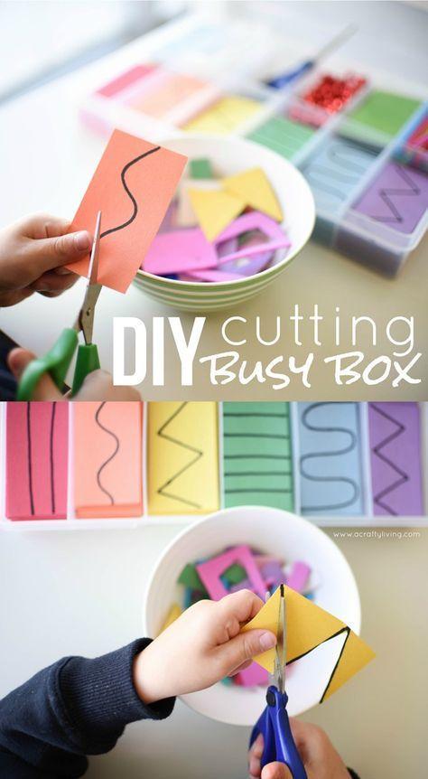 A Crafty LIVing - Cutting Busy Box www.acraftyliving.com