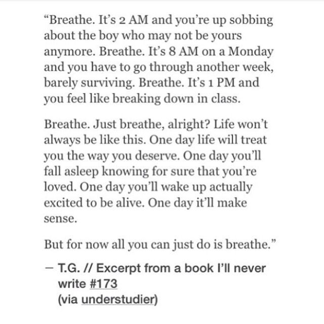 Just breathe //