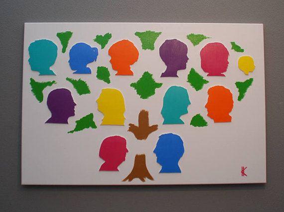 Love this modern Family painting, so colourful.  Gepersonaliseerd 3D schilderij familie  Atelier Meesters