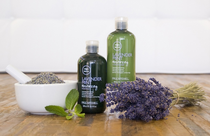 Paul Mitchell Lavender Mint  Say ahhhhh. Quench thirsty hair and soothe the senses with calming lavender, mint and tea tree.