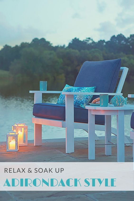 Boost outdoor seating – whether it's deck or dockside - with a modern interpretation of the traditional Adirondack chair. Your lounging will be ship shape with classic nautical styling.