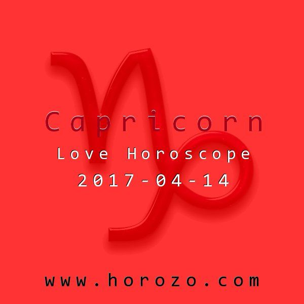 Capricorn Love horoscope for 2017-04-14: Use caution and good sense today. If you have to cry on someone's shoulder, make sure it's someone you trust. A character on the periphery, such as a coworker or acquaintance, could use this sensitive information against you later on..capricorn