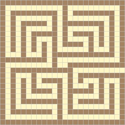 Examples of Roman maze mosaics                                                                                                                                                                                 More