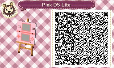 Animal Crossing: New Leaf - pink DS QR-code