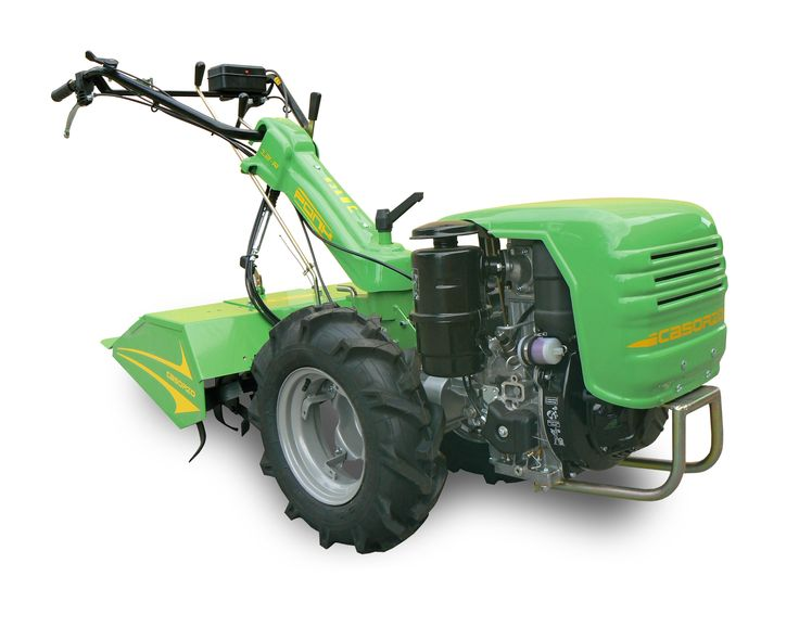 #Casorzo #cultivator Pony12-R 12-speed gearbox (4 forward + 2 R in #TILLER and #MOWER position) using inverter-gearbox  Rapid engagement of reverse gear - Variable track wheel hubs - Engine bonnet - Independent power takeoff   With engine #Lombardini 15 LD350 Kw6 HP8 - Diesel Wheels 5.00x10 (with adjustable discs) Tiller 70 cm www.casorzo.net