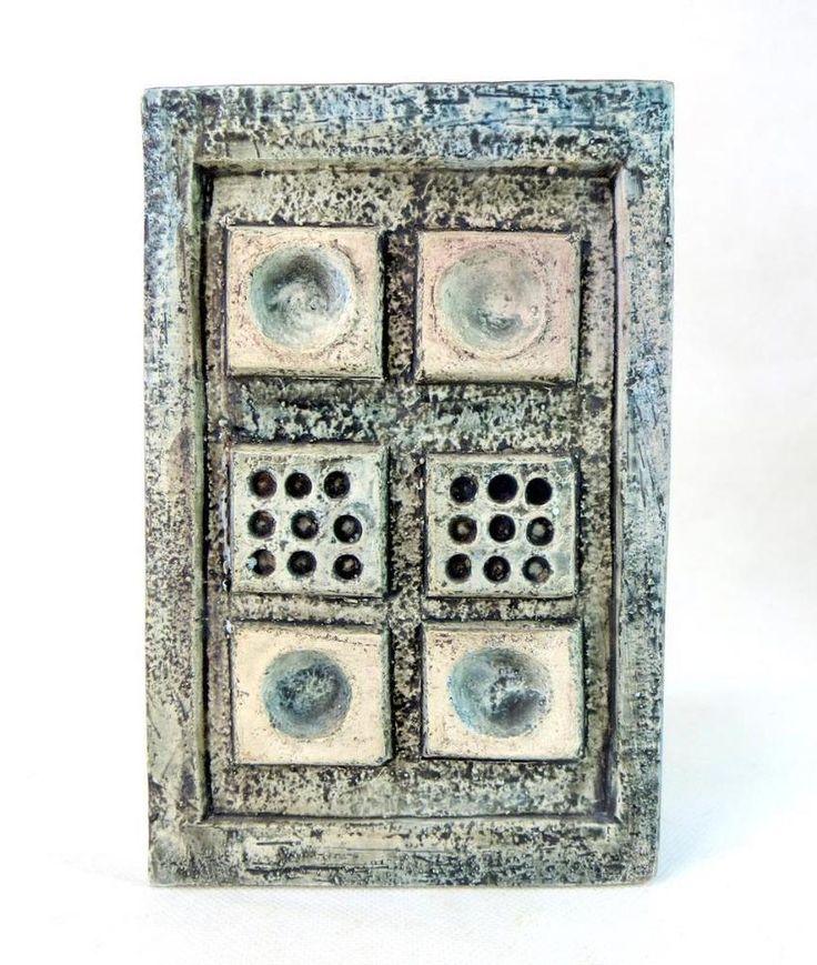 Troika Cornish Studio Art Pottery Blue-Grey Slab Vase - Linda Hazel 1970s A/F - Ebay £4.95