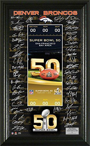 Denver Broncos Super Bowl 50 Signature Ticket -- Continue to the product at the image link. (Note:Amazon affiliate link)