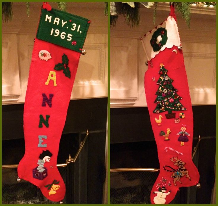 Anne's stocking Collage via The Gracious Posse