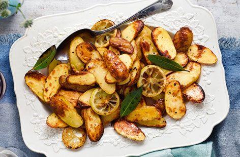 Roast potatoes with lemon and bay #Tesco