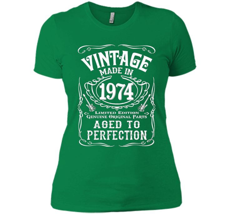 Vintage Made In 1974 Birthday Gift Idea T Shirt