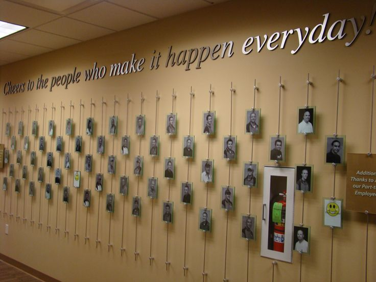 Recognition wall environmental design pinterest for Quote wall ideas