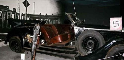 Heydrich Car after the ambush of Prague-Driven in his ...