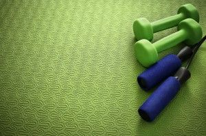 Home Gym Flooring Options.... Not this color! Yikes!!!!