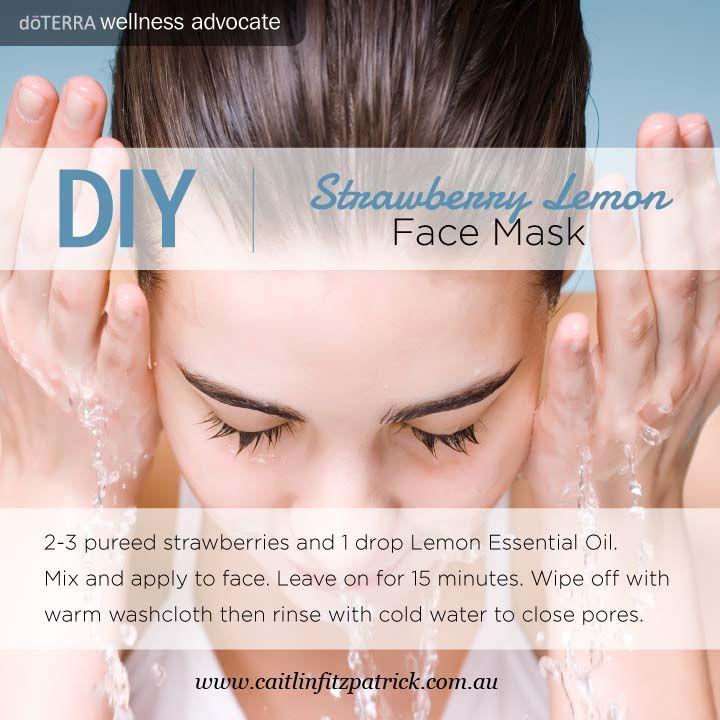 17 best essential oils diy images on pinterest doterra essential doterra social media strawberry lemon face mask do it yourself solutioingenieria Gallery