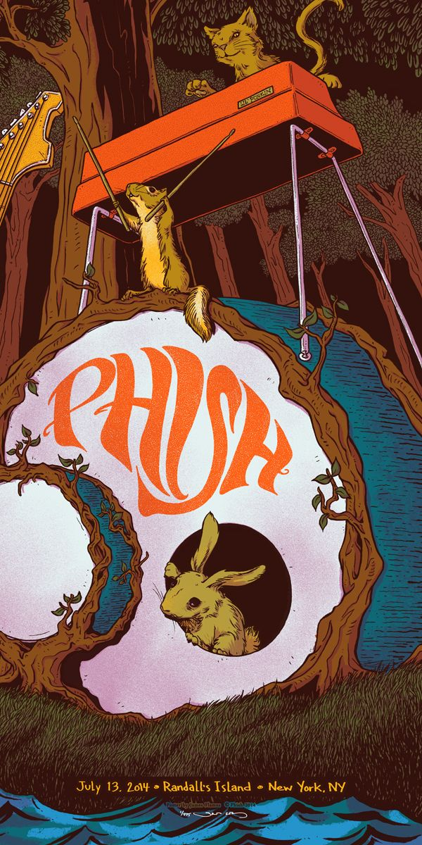 Phish Poster by James Flames