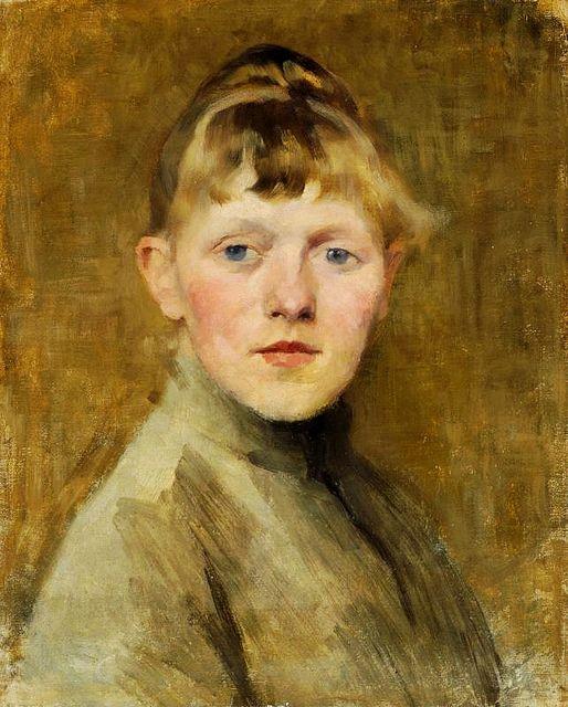 Schjerfbeck, Helene (1862-1946) - 1884 Self-Portrait by RasMarley, via Flickr